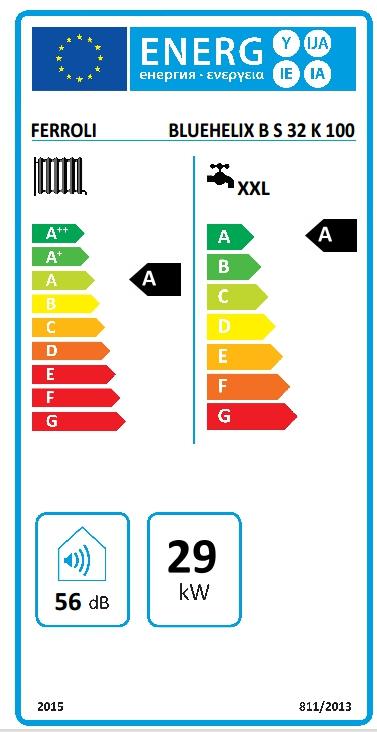 Caldera a gas de condensación Ferroli BLUEHELIX B S 32 K 100