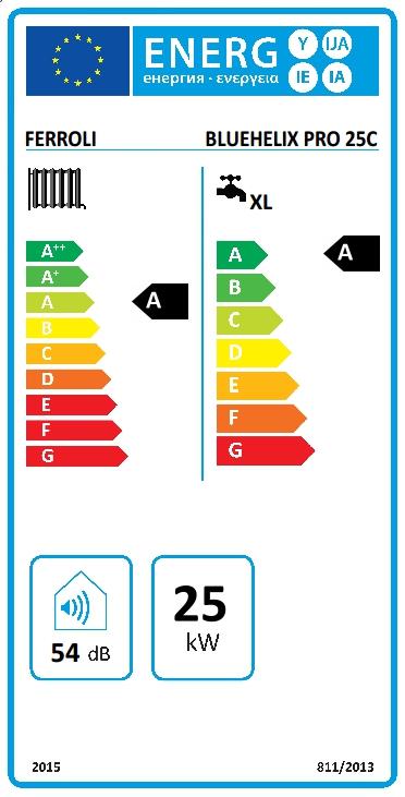 Caldera de condensación Ferroli BLUEHELIX PRO 25 C N + Nuevo cronotermostato Wifi + Kit salida gases estándar_product