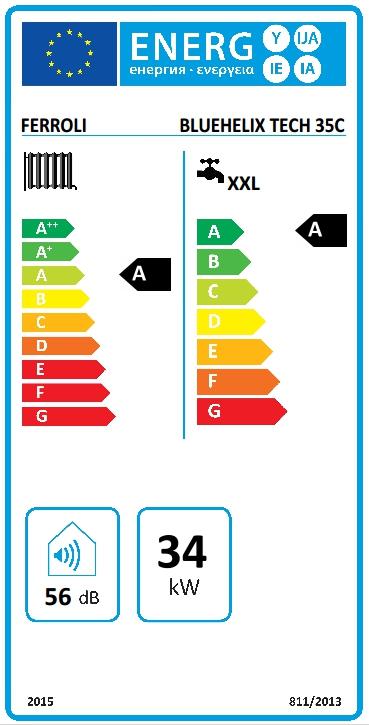 Caldera de condensación Ferroli BLUEHELIX TECH 35 C + Kit salida de GASES_product
