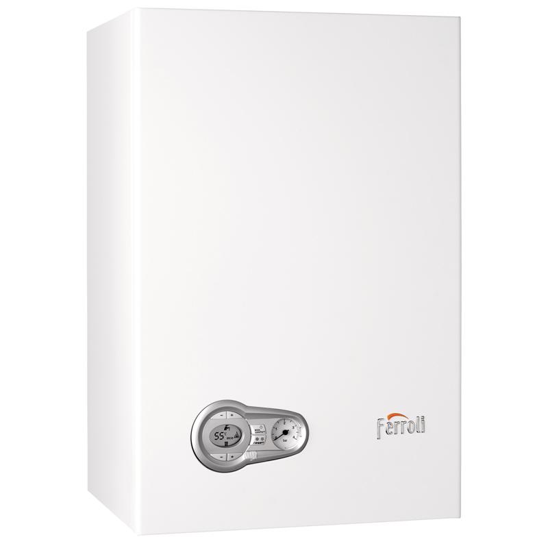 Caldera a gas de condensación Ferroli BLUEHELIX TECH 25 C + cronotermostato Wifi + Kit salida gases estándar