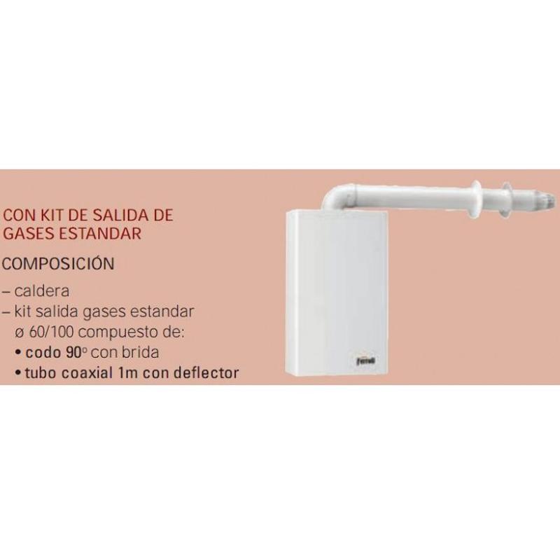 Caldera a gas de condensación Ferroli BLUEHELIX TECH 35 A + kit salida de gases_product